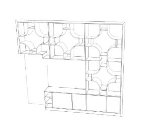 plan bibliothèque art deco