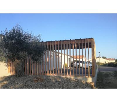 Carport design en bois abri voiture