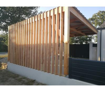 Carport en bois design, abri voiture