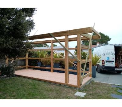 abri de jardin design bois structure