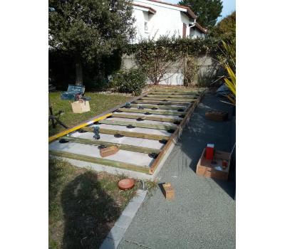 Terrasse pour abri de jardin bois