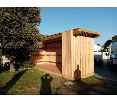 Abri bois design jardin
