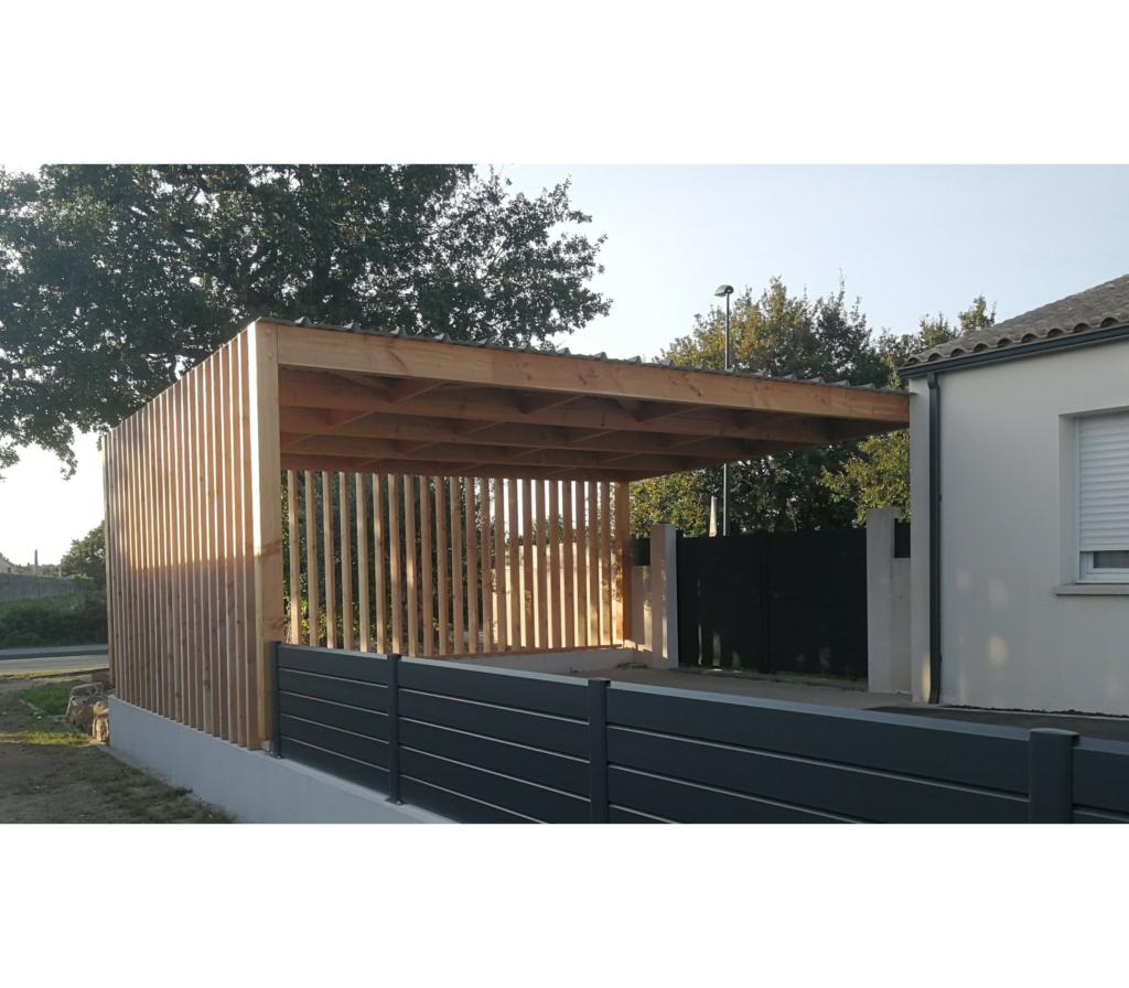Carport bois design
