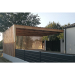 Carport bois design